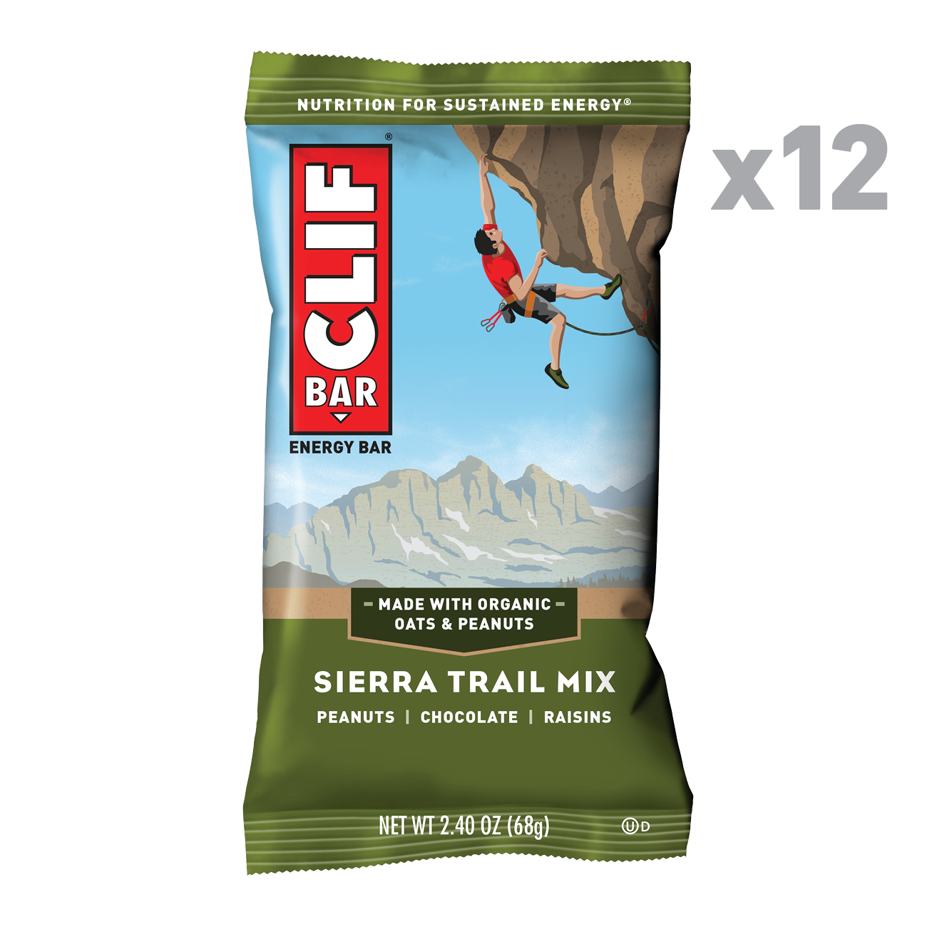 CLIF Bar® Sierra Trail Mix Energy Bars 12-2.4 oz. Box