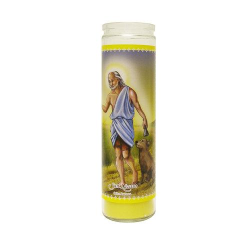 San Lazaro Unscented Candle, Yellow