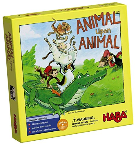 HABA Animal Upon Animal - classic Wooden Stacking game Fun for The Whole Family (Made in germany) - image 1 of 4