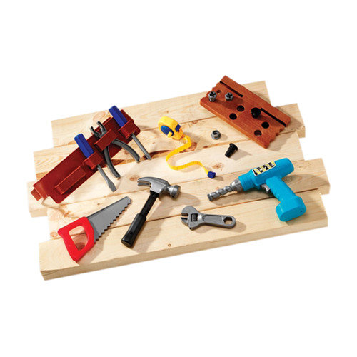Learning Resources Pretend and Play 20-Piece Work Belt Tool Set