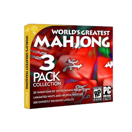 World's Greatest Mahjong 3 Pack Games Collection PC CD-ROM (Mahjong Halloween Big Fish Games)