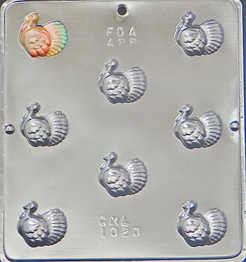 1020 Turkey Bite Size Pieces Chocolate Candy Mold by