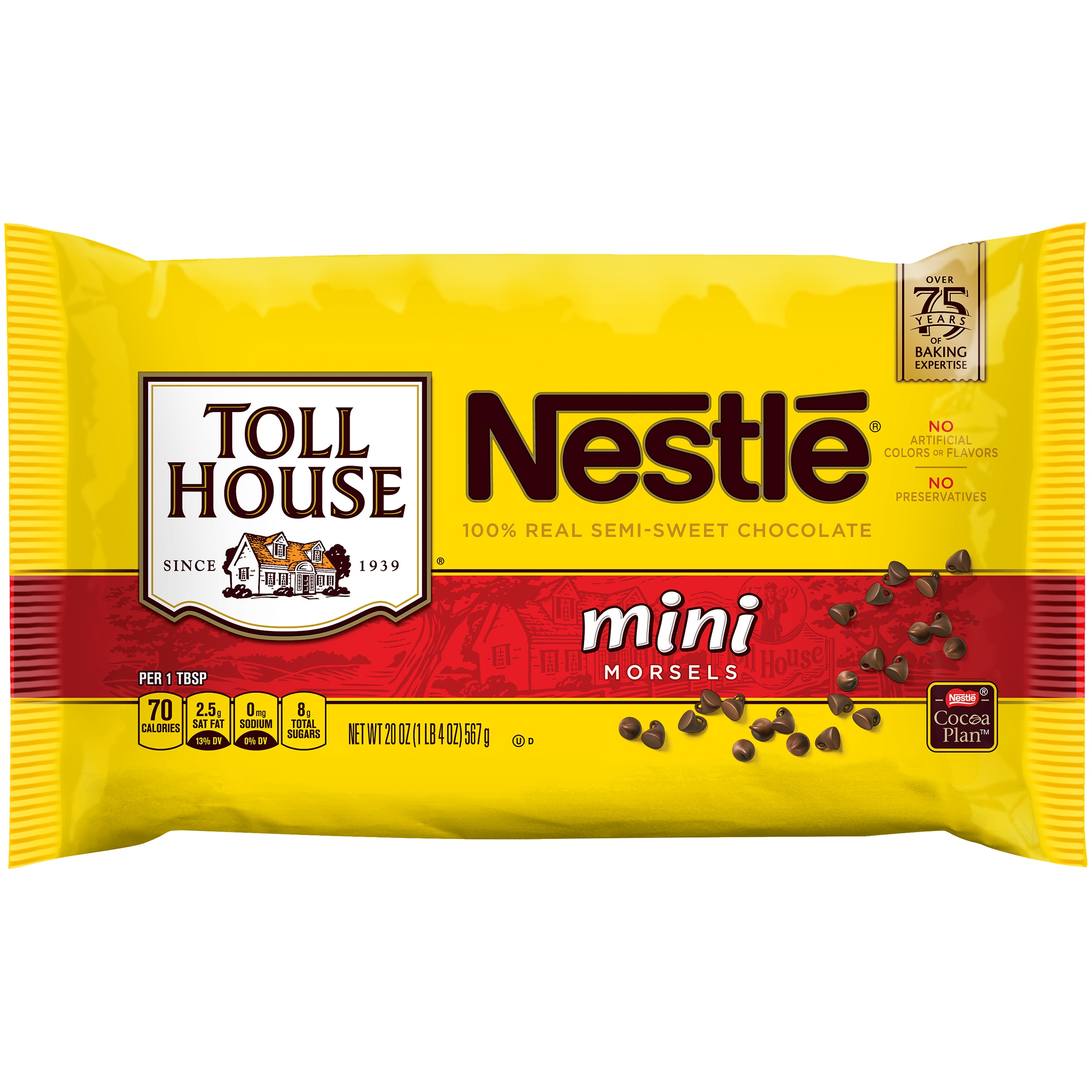 NESTLE TOLL HOUSE Semi-Sweet Chocolate Mini Morsels 20 oz. Bag
