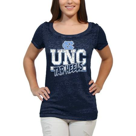 North Carolina Tar Heels Block Graffiti Womens Juniors Team Short Sleeve Scoop Neck Tee Shirt