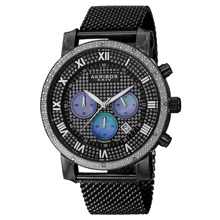 Akribos Xxiv Mens Automatic Watch - Akribos XXIV Mens Chronograph Mesh Watch