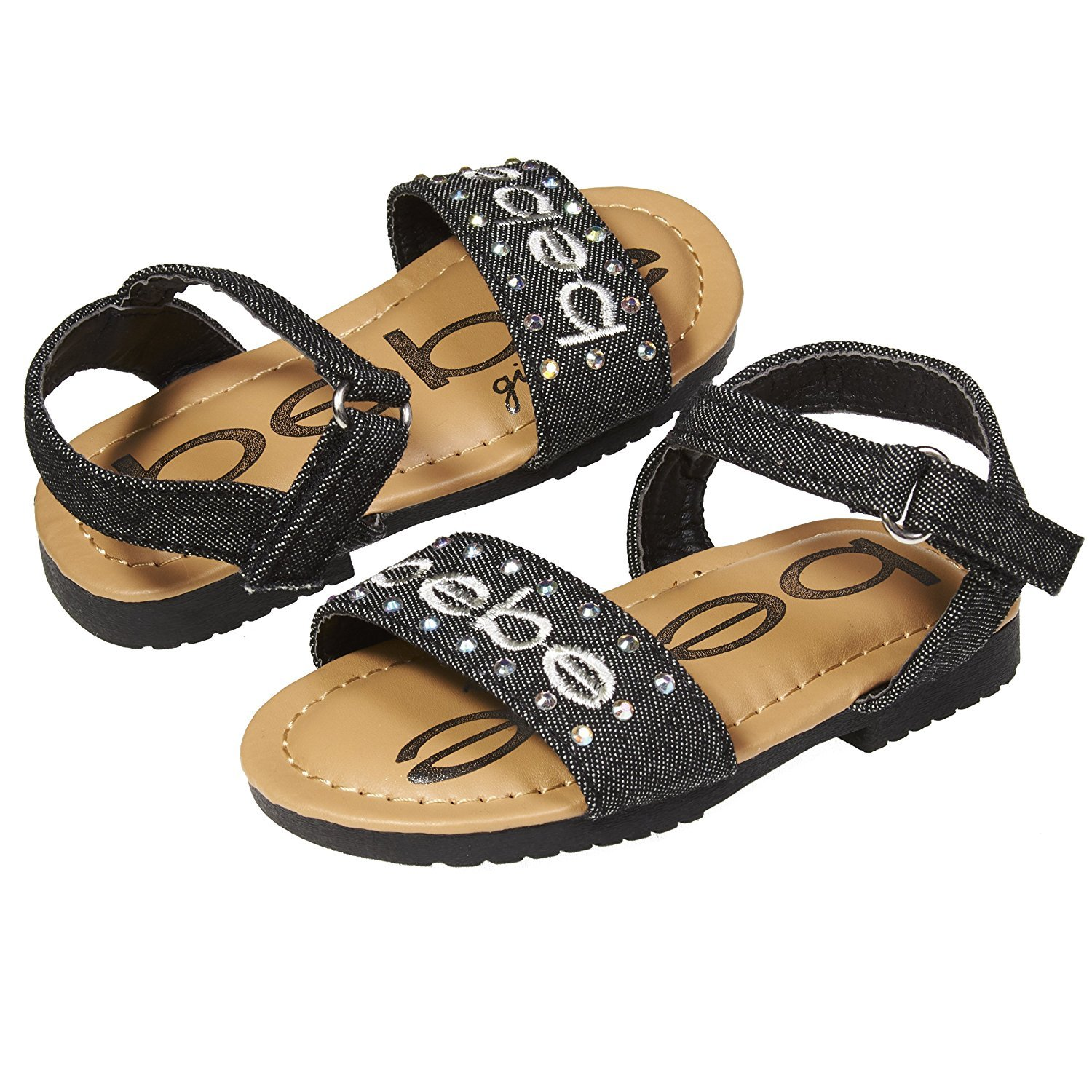 Cool Summer Stylish Girl/'s Shoes Metallic Color Strappy Sandal Toddler size