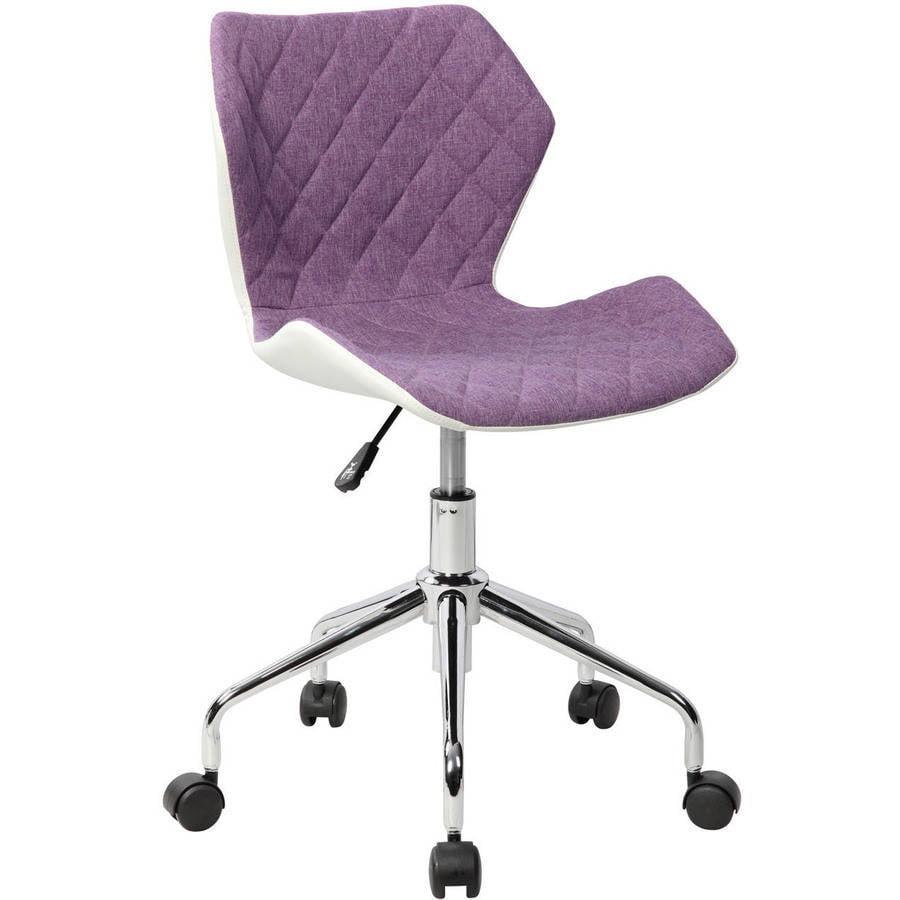 Techni Mobili Modern Height Adjustable Office Task Chair, Purple (RTA-3236-PPL)