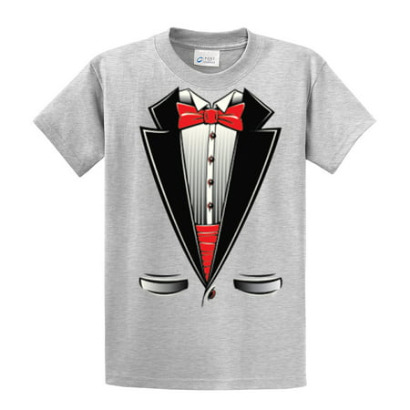 Tuxedo T-shirt Red Black & White Tee Party