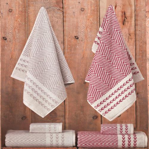 Enchante Salina 3-piece Turkish Towel set Beige Melange