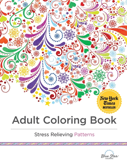 Adult Coloring Book Stress Relieving Patterns (Paperback) - Walmart.com -  Walmart.com