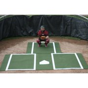 ProMounds Green Batting Mat Pro with Catcher's Extension