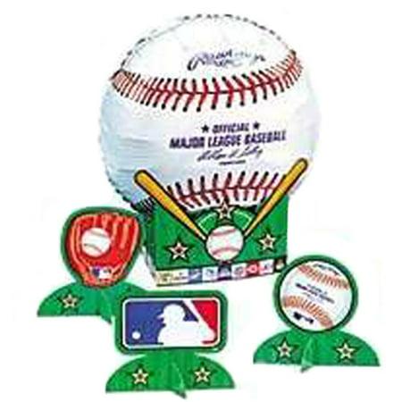 MLB Baseball Foil Mylar Balloon Centerpiece Kit (5pc)](Balloon Centerpiece Ideas)