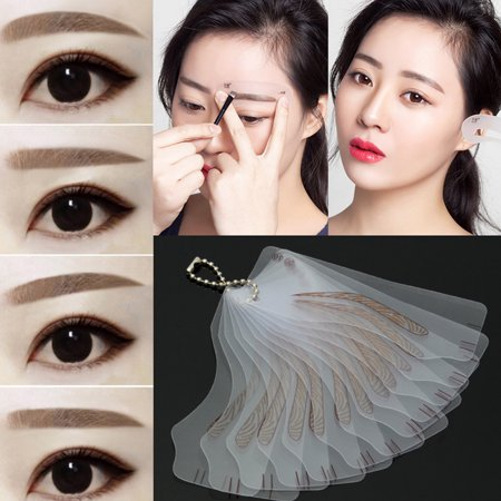 Ejoyous 12pcs Synophridia Eyebrow Drawing Stencil Permanent