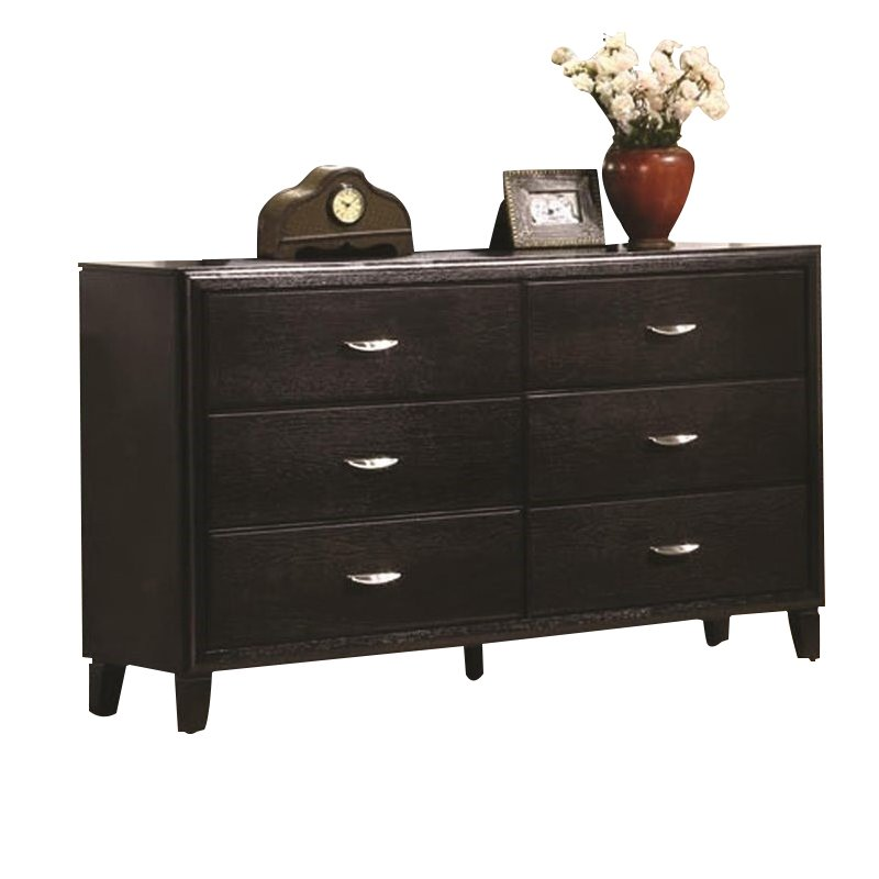 Coaster Company Nacey Collection Dresser, Dark Brown