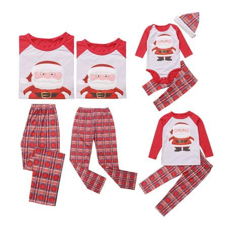Family Christmas Pajamas With Baby.Family Matching Christmas Pajamas Set Mommy Daddy Kids Baby 5 Pcs Sleepwear Nightwear Homewear