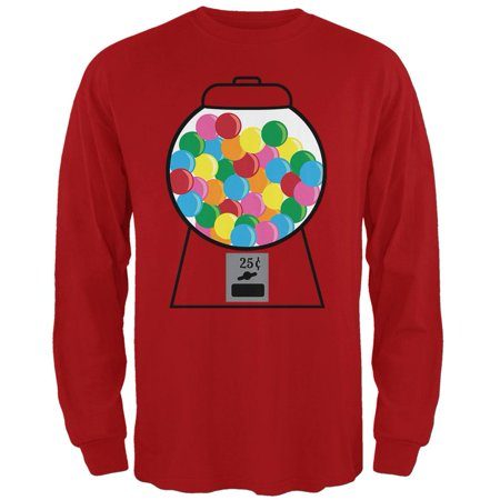Candy Gumball Machine Costume Mens Soft Long Sleeve T - Gumball Machine Costumes