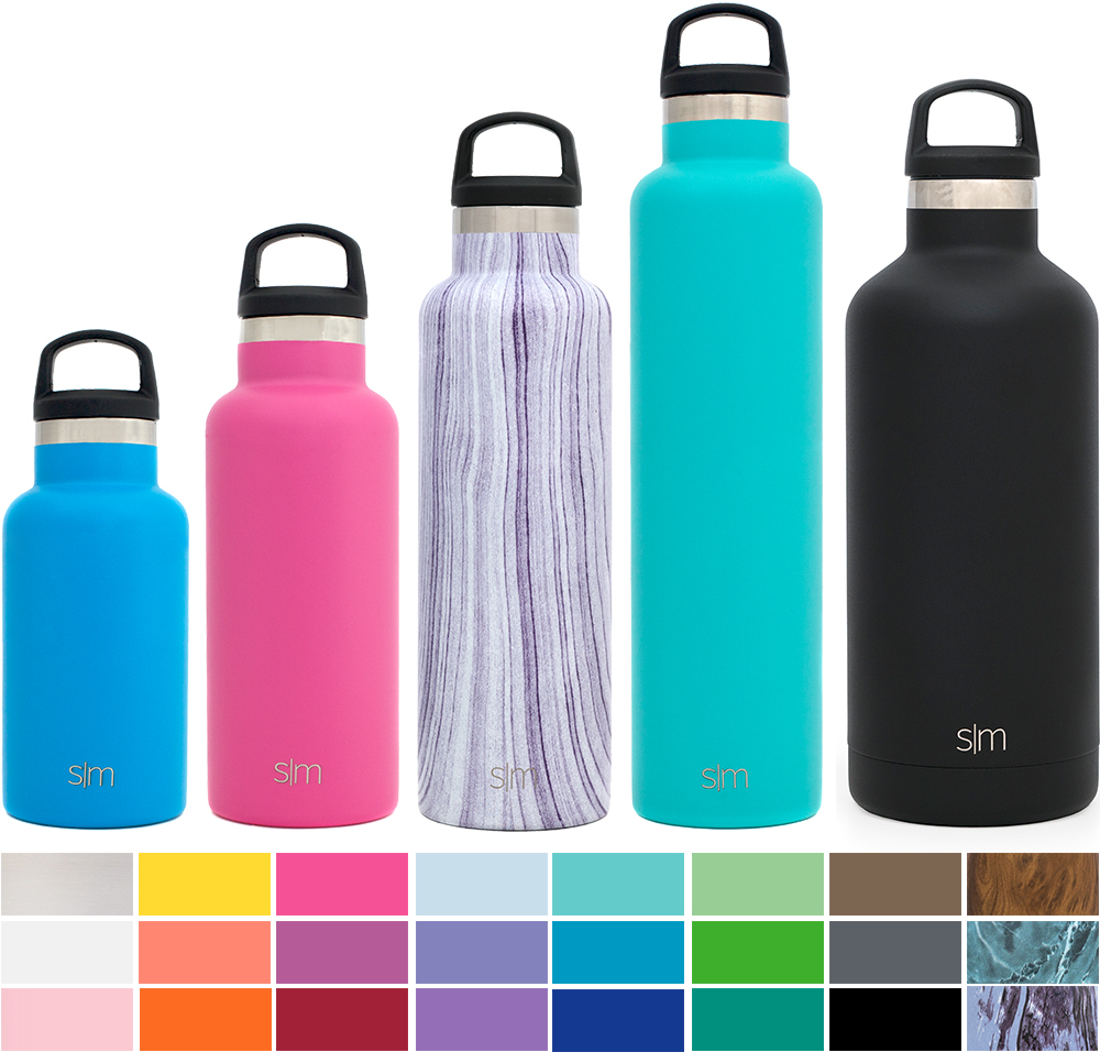 Simple Modern Ascent Water Bottle - Narrow Mouth, Vacuum Insulated, 18/8 Stainless Steel - 5 Sizes, 30+ Colors