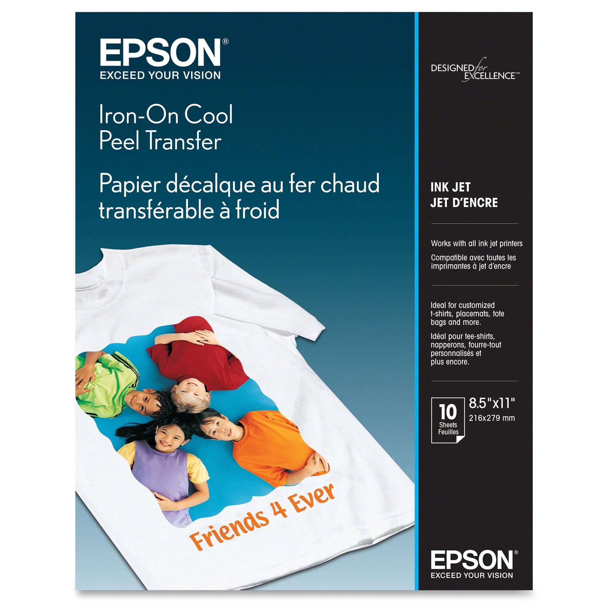Epson Iron-On Cool Peel Transfer Paper, 8 5