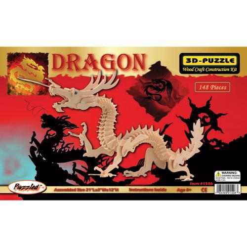 "3D Jigsaw Puzzle 148 Pieces 21""x3""x12""-Dragon"
