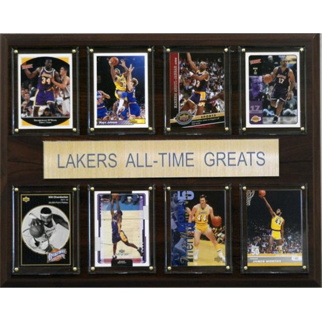 C & I Collectables 1215ATGLAL NBA Los Angeles Lakers All-Time Greats Plaque