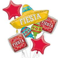 Fiesta Papel Picado Foil Balloon Bouquet