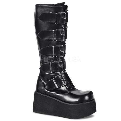 TRA518 B PU Demonia Vegan Boots Unisex BLACK Size: 7 by