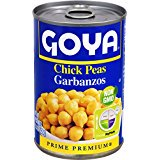 Goya Chick Peas Garbanzos Non GMO 13 Oz can . Pack Of 3.