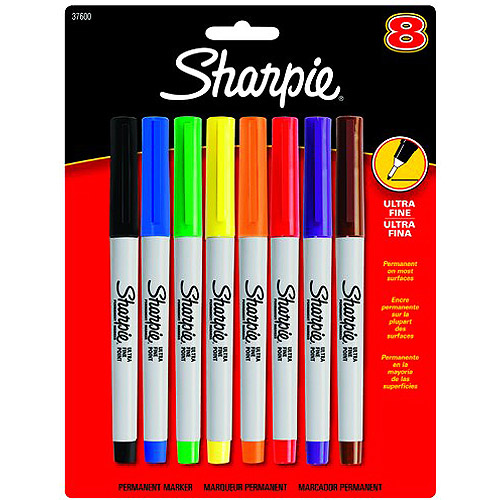 Sharpie Ultra Fine Point Permanent Markers, Assorted Colors, Set of 8