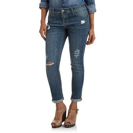 5fd5fe5316b3c Faded Glory - Faded Glory Women's Boyfriend Jeans - Walmart.com