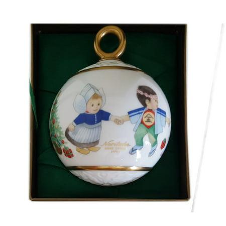 """Noritake Bone China """"Children Around the World"""" Christmas Ornament"""