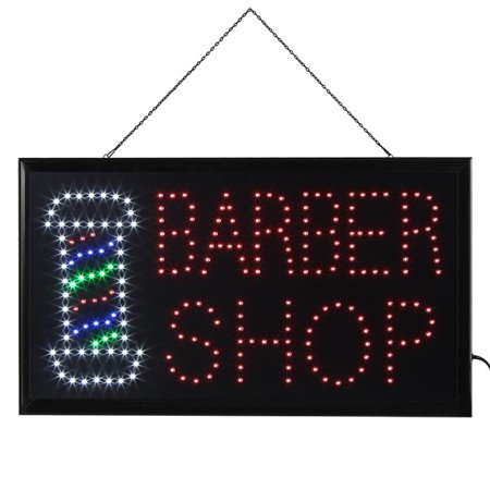 - WALFRONT Bright Flashing LED Color BARBER SHOP Sign Light Hair Cut Store Display 55x33cm, BARBER SHOP Sign Light, LED BARBER SHOP Sign