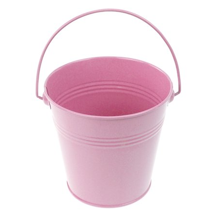 Metal Pail Buckets Party Favor, 5-inch, - Pink Pail