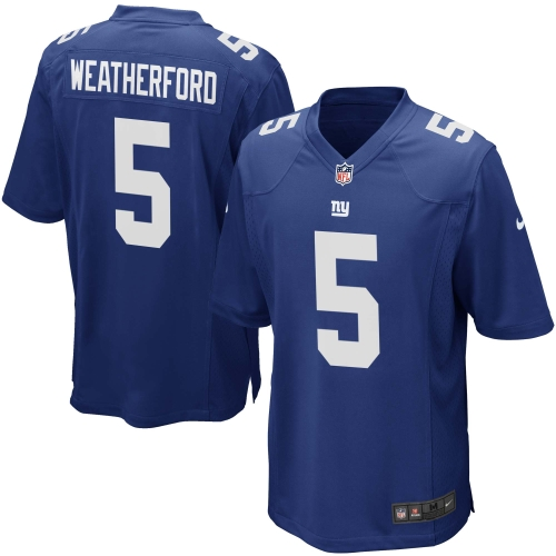 Steve Weatherford New York Giants Youth Nike Team Color Game Jersey - Royal Blue - Yth S