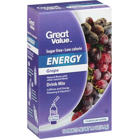 Great Value Grape Energy Drink Mix  10Ct