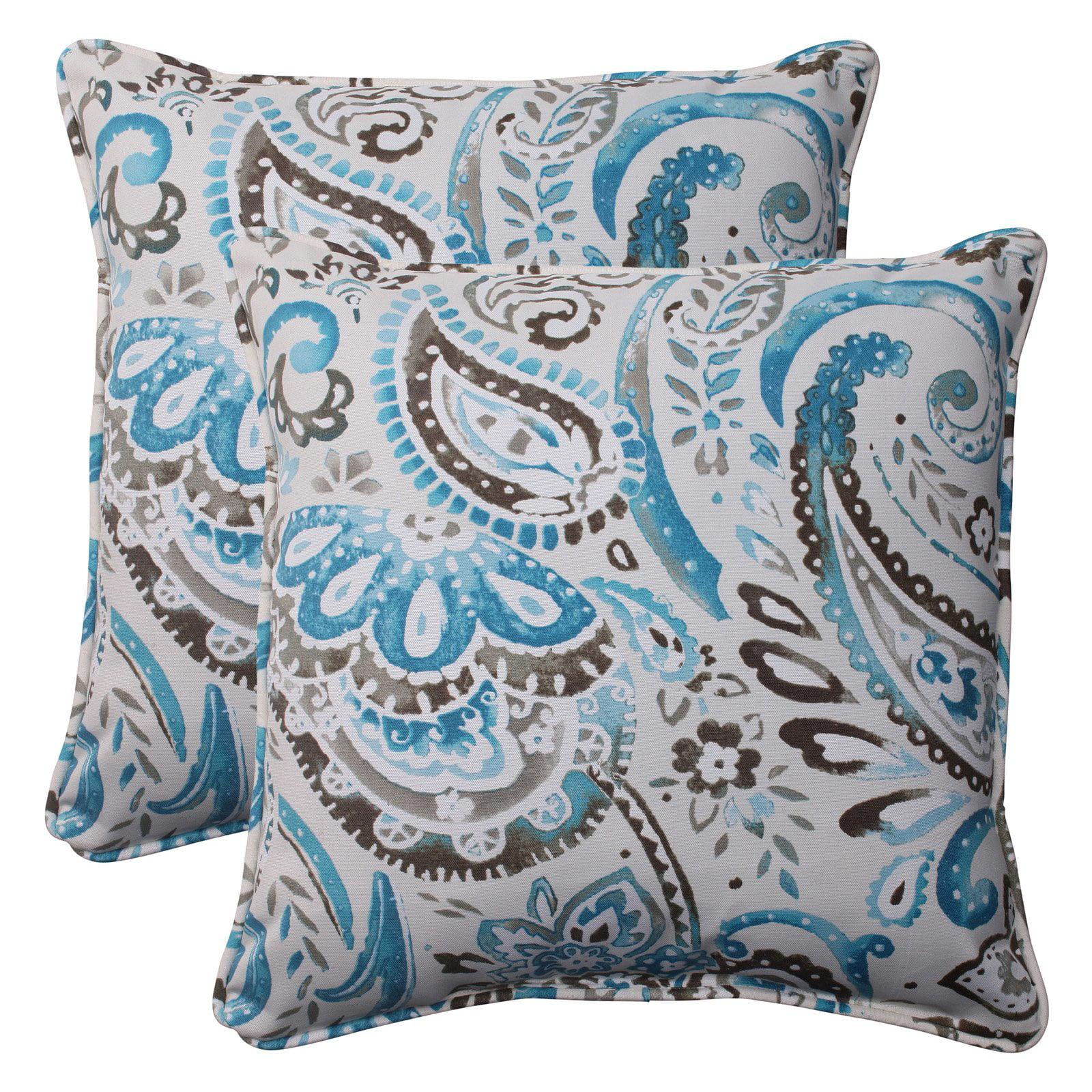 Pillow Perfect Outdoor/ Indoor Vermilya Tidepool 18.5-Inch Throw Pillow (Set of 2)