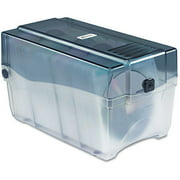 Innovera CD/DVD Storage Case w/Hinged Lid & Key Lock Holds 150 Discs, Clear