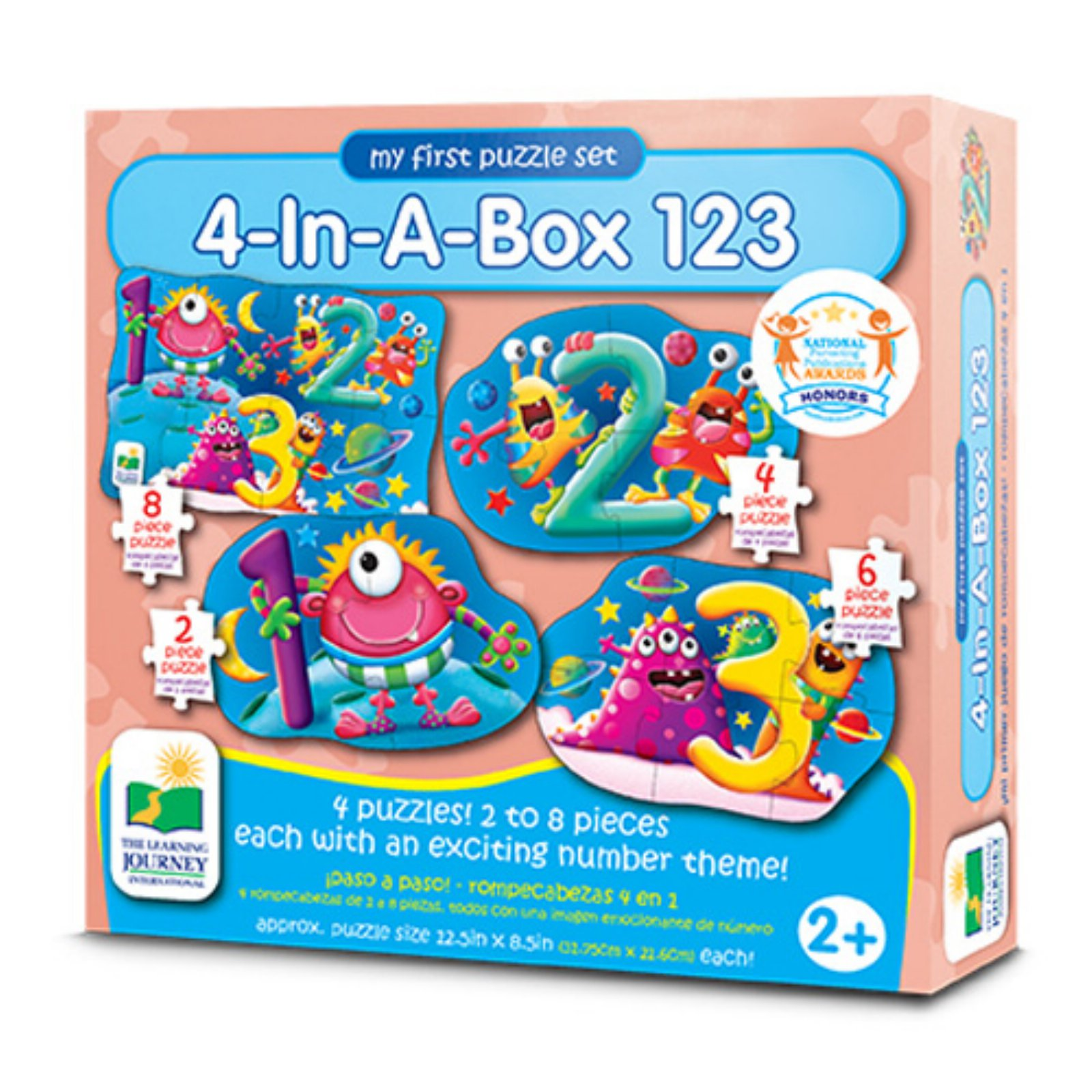 The Learning Journey My First Puzzle Set, 4-in-a-Box, 123 by The Learning Journey