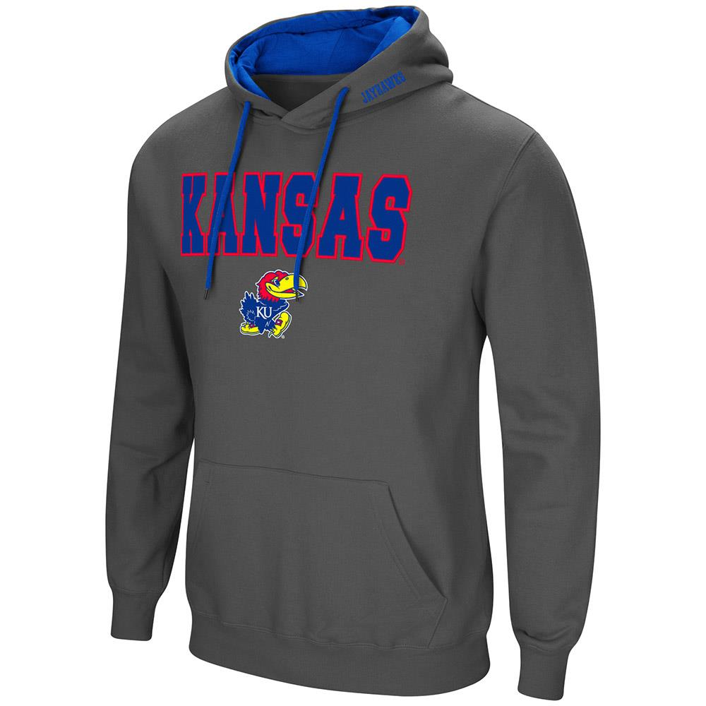 Mens Kansas Jayhawks Pull-over Hoodie M by Colosseum