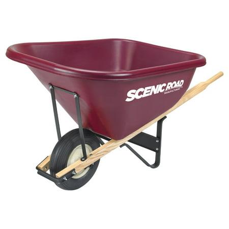 Scenic Road Single Wheel 10 Cube Wheelbarrow - 800 lb Capacity
