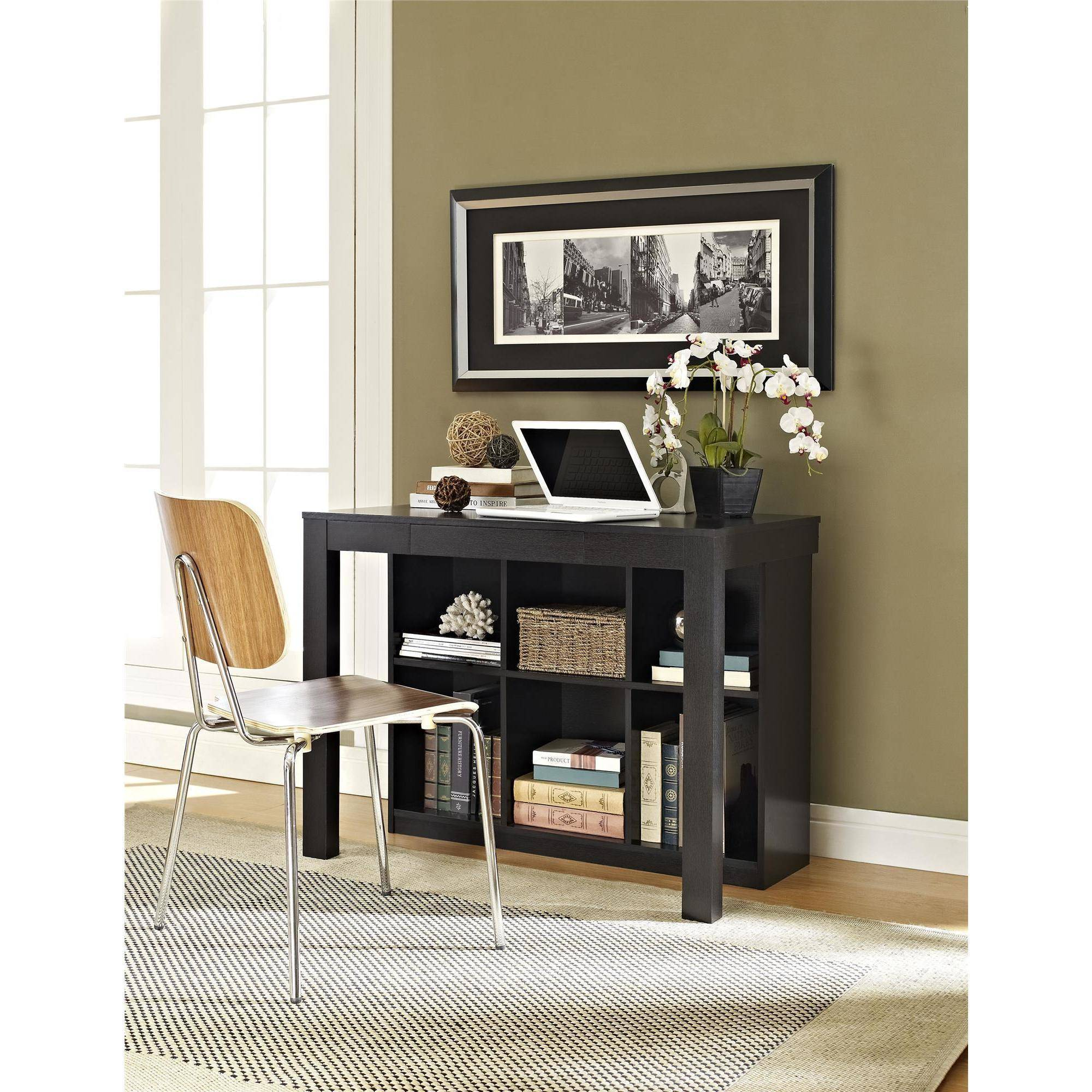 Ameriwood Home Parsons Desk with Cubbies Black Walmart