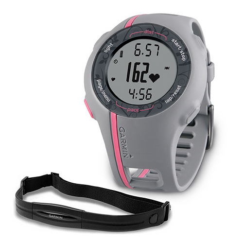 Refurbished Garmin 010-00863-10 Forerunner 110 Bundle GPS Enabled Sports Watch W/ HRM