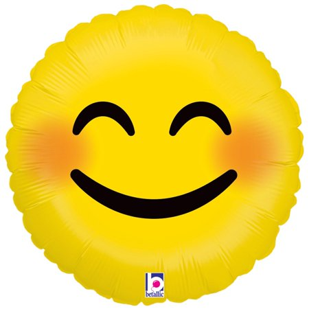 Smiley Face Foil Balloon - Emoji Smiley Face Foil Balloon