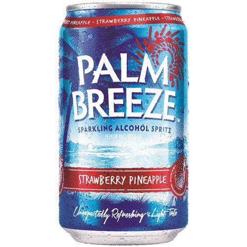 Palm Breeze Strawberry Pineapple Sparkling Alcohol Spritz, 12 fl oz, 12 pack