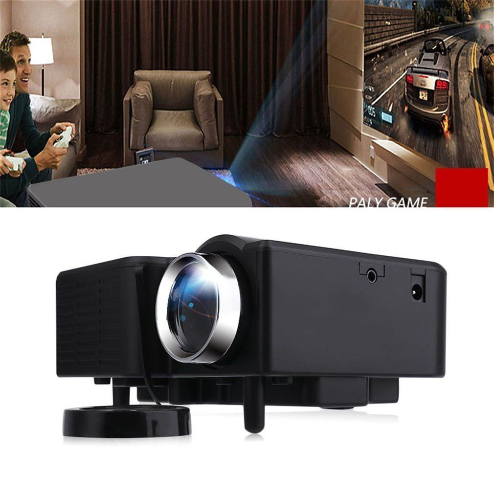UC28 Mini Home Cinema Theater Projector VGA/USB/SD/AV/HDMI Portable Mini LED LCD 1080P Entertainment Projector