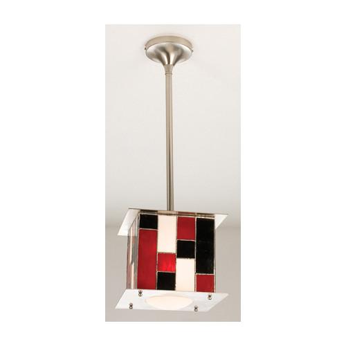 "Meyda Tiffany 15543 Single Light 14"" Wide Mini Pendant with Handmade Shade by Meyda Tiffany"