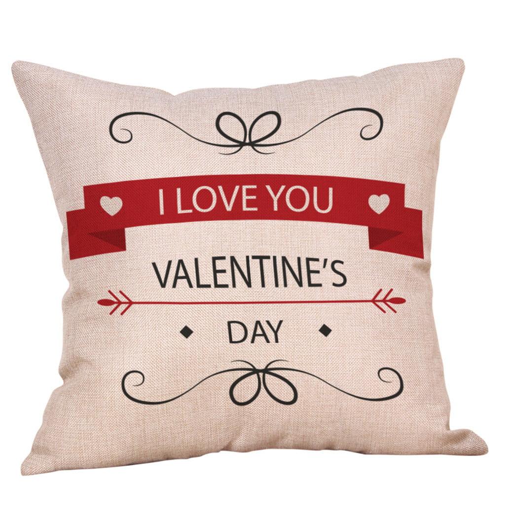 Mnycxen Happy Valentine S Day Throw Pillow Case Sweet Love Square Cushion Cover Walmart Com Walmart Com