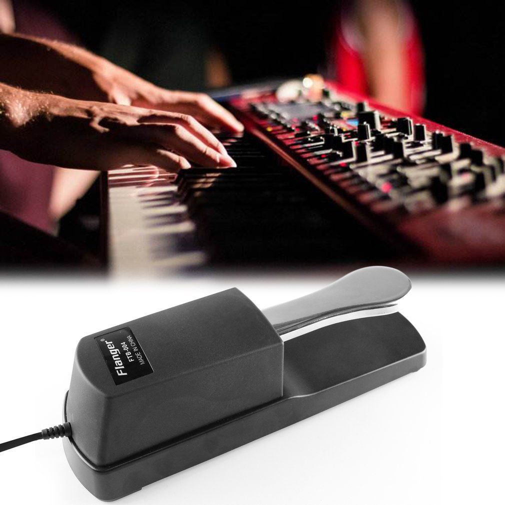 FLANGER FTB-004 Portable Size Metal Alloy Piano Keyboard Sustain Pedal by