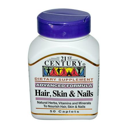 21St Century Vitamins Hair, Skin And Nails Formula Capsules - 50 Ea - Walmart.com