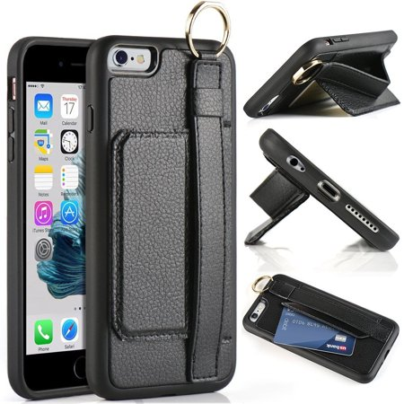 low priced 9d19e 4d414 iPhone 6 PLUS/ 6S Plus Wallet Case, LAMEEKU KickStand Slim Leather ...