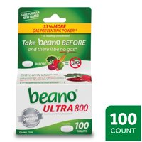 Beano Ultra 800, Gas Prevention and Digestive Enzyme Supplement, 100 Count